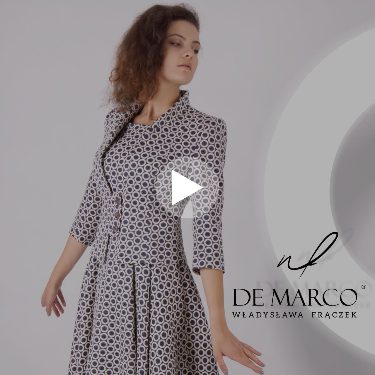 Elegancka sukienka z żakietem w stylu retro dla mamy wesela. Sklep internetowy De Marco.