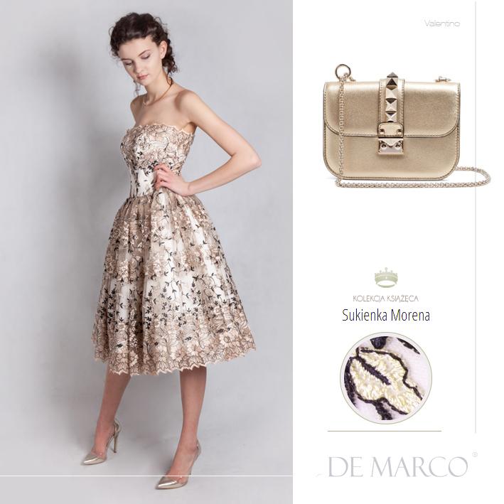 złota sukienka na wesele. Sklep internetowy De Marco