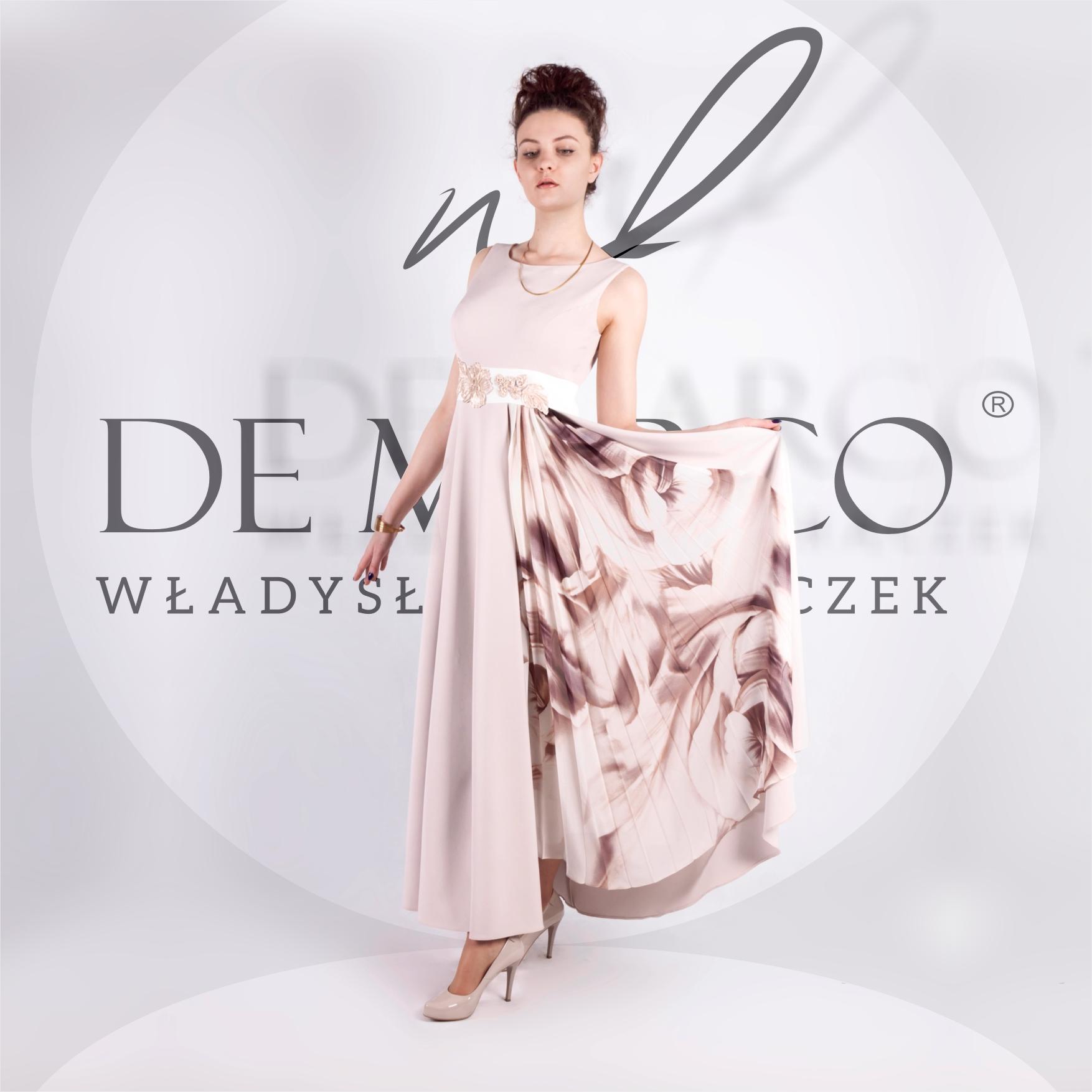 Długie suknie szyte na miarę dla mamy weselnej, matki chrzestnej, świadkowej i babci wesela. Polscy projektancki, sklep internetowy De Marco
