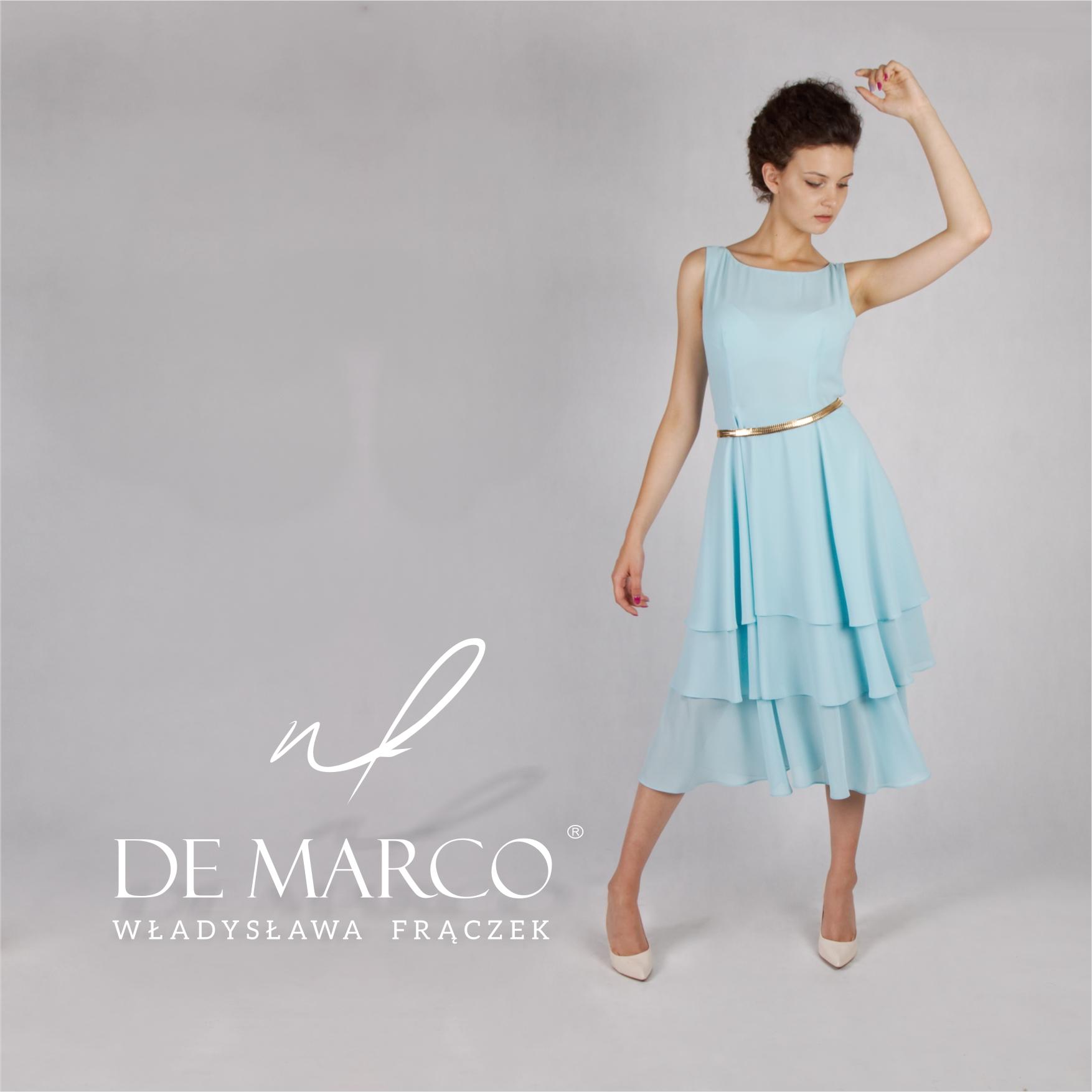 Koktajlowe sukienki szyte na miarę dla mamy wesela. Sklep internetowy De Marco.