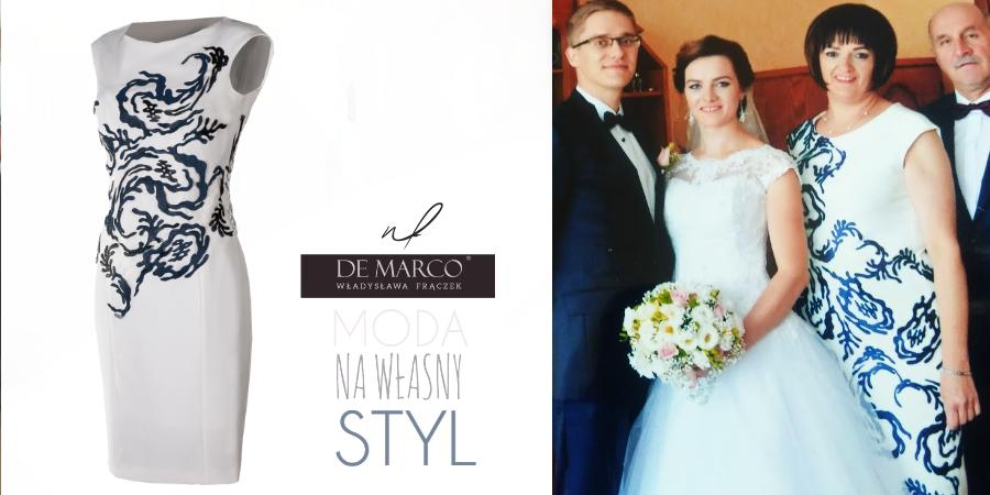 Płaszcze i sukienki na wesele dla mamy. Sklep internetowy z ekskluzywną odzieżą damską szytą na miarę. Komplety na wesela, sukienki z płaszczami i żakietami, kostiumy i garsonki wizytowe i okolicznościowe, oraz ubrania biznesowe. Zapraszamy do De Marco atelier projektantki mody W. Frączek.