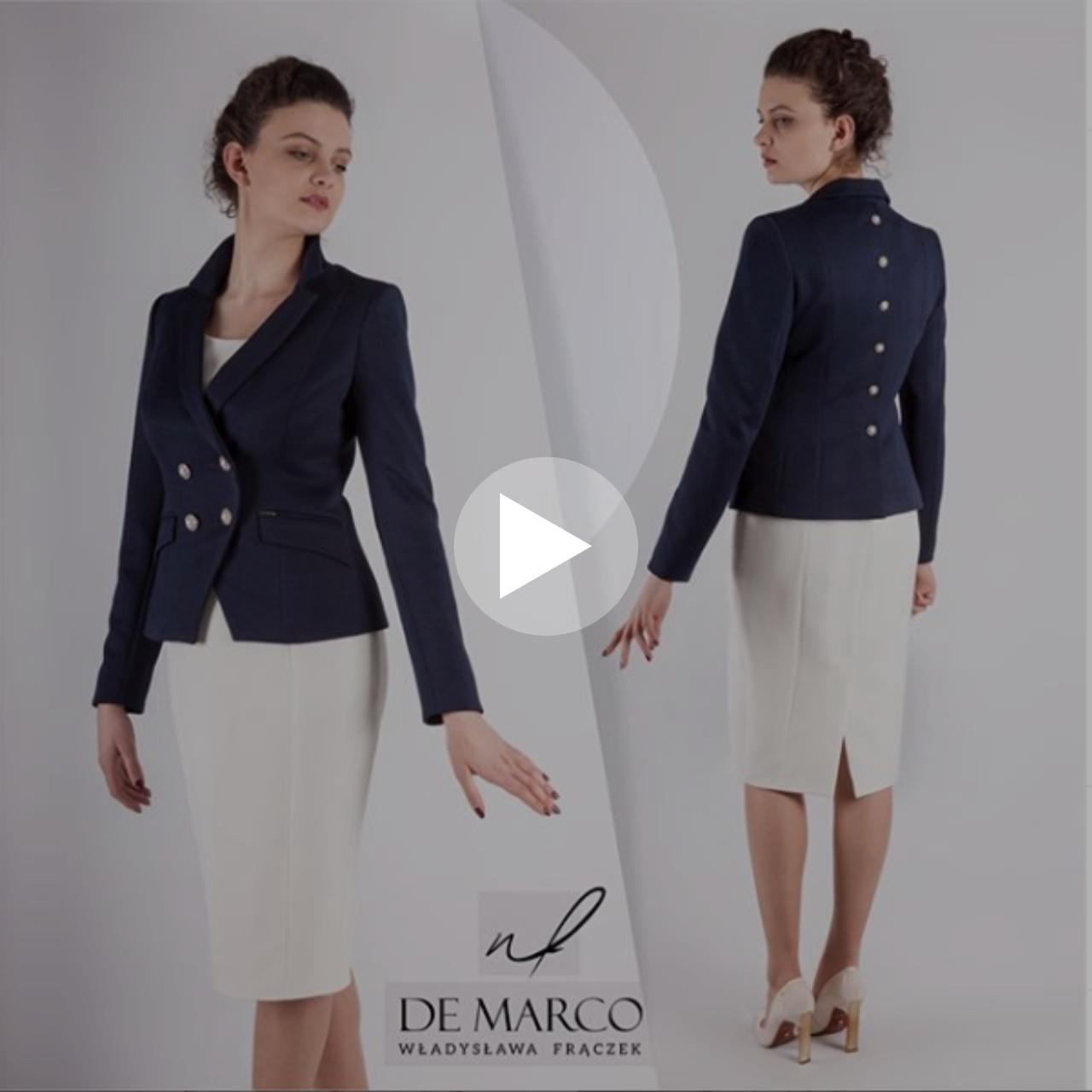 Wideo prezentacja ekskluzywnych żakietów i sukienki szytych na miarę w De Marco.