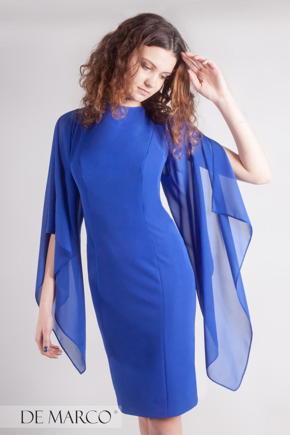 8c2ea8363ccfff Olśniewająca sukienka szafirowa Jordana