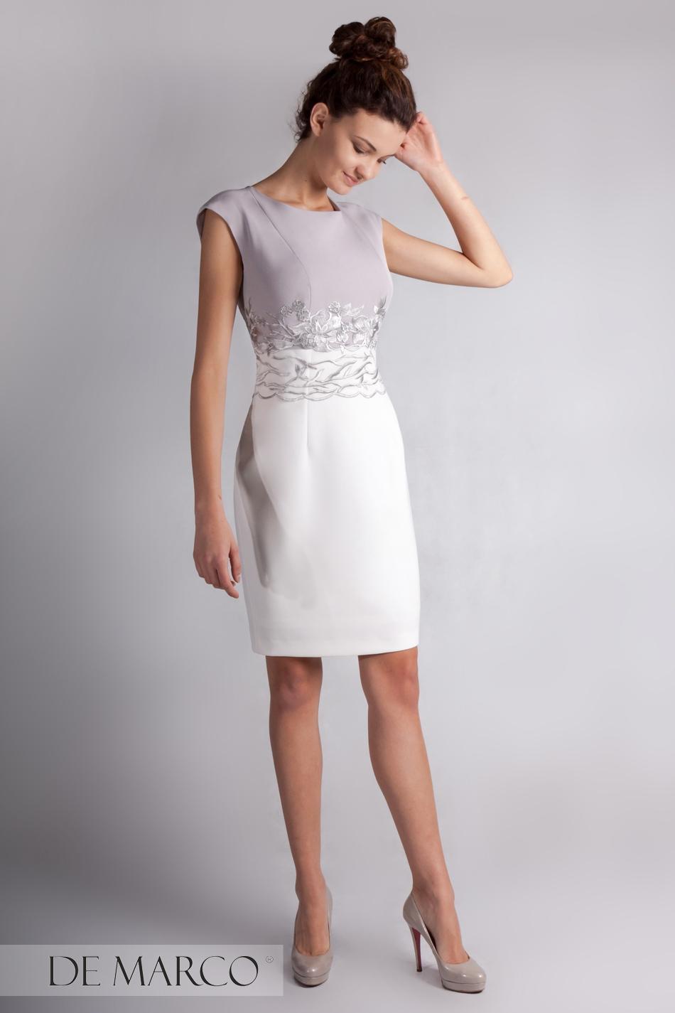 ef5a293bb7 Ulubione Wizytowa sukienka na wesele Ryheza HV-48