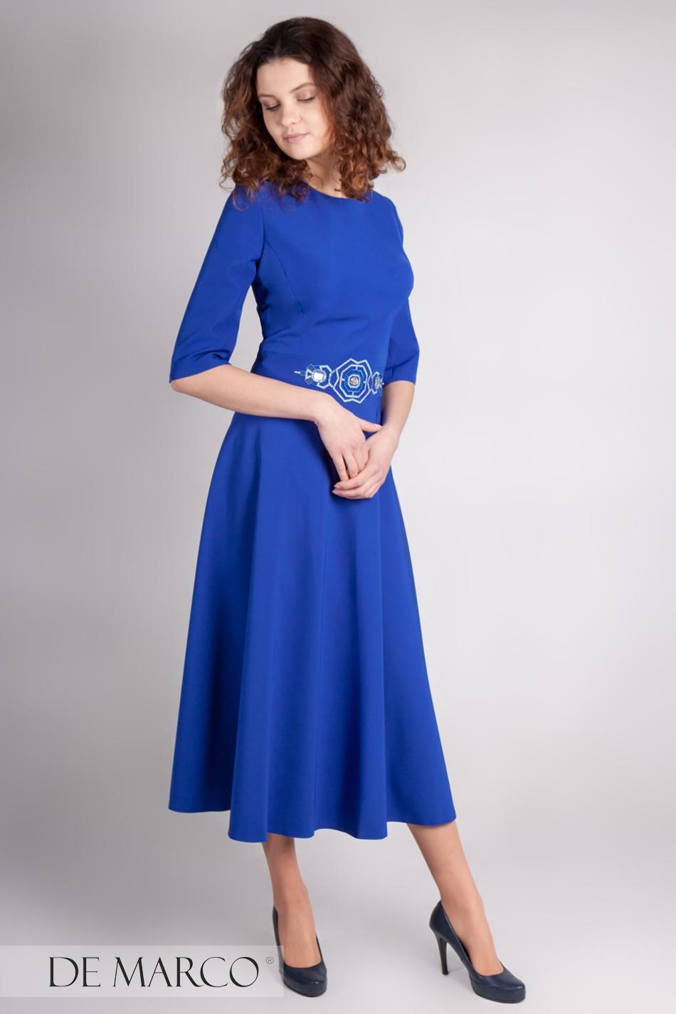 27225ea95b2238 Zjawiskowa sukienka w szafirowym kolorze Fortuna · Olśniewająca ...