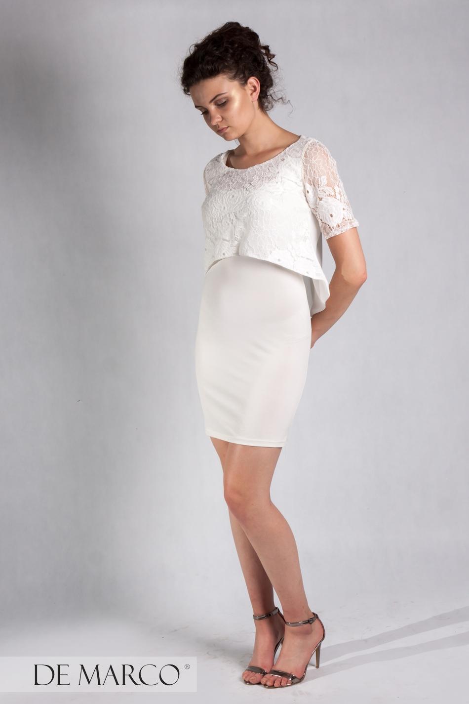 8ffbbf7c89 Elegancka śmietanowa sukienka dwuczęściowa Leticia