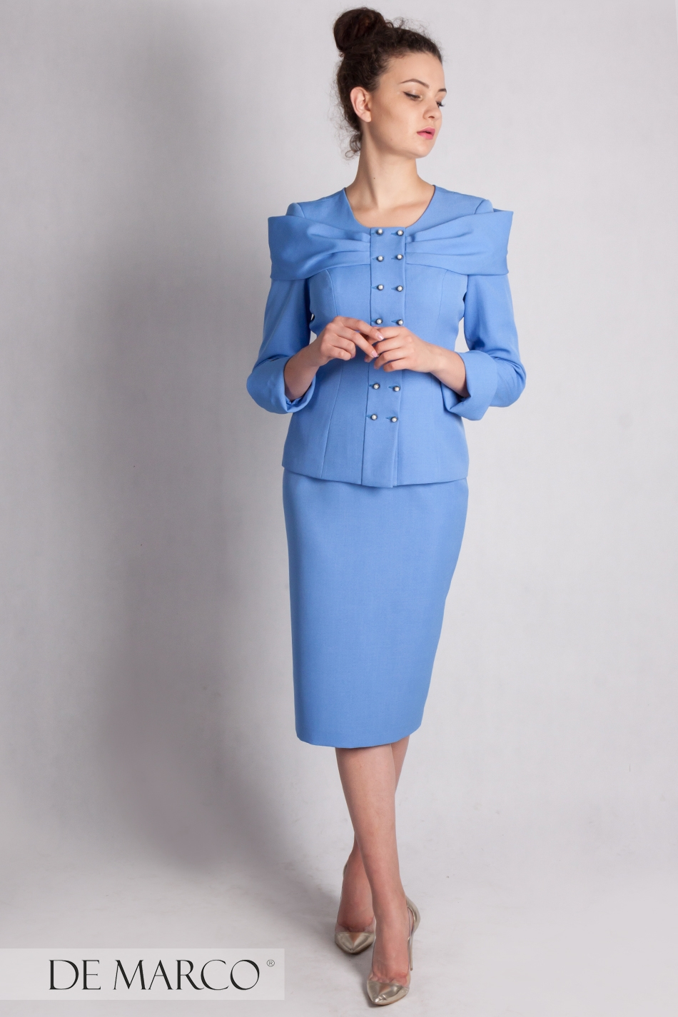 53edbf1913 Elegancki kostium biznesowy Safona