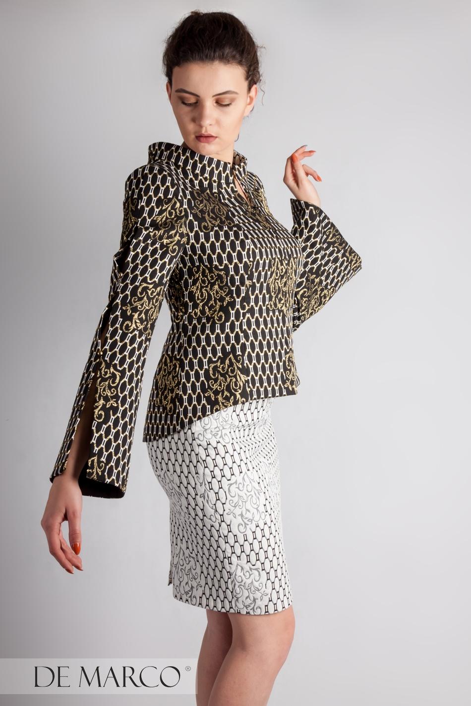 a3bc265e8a Garsonki wizytoweszyte na miarę online · Oryginalny kostium biznesowy  Gizela-Estera. Garsonki wizytowe De Marco ...