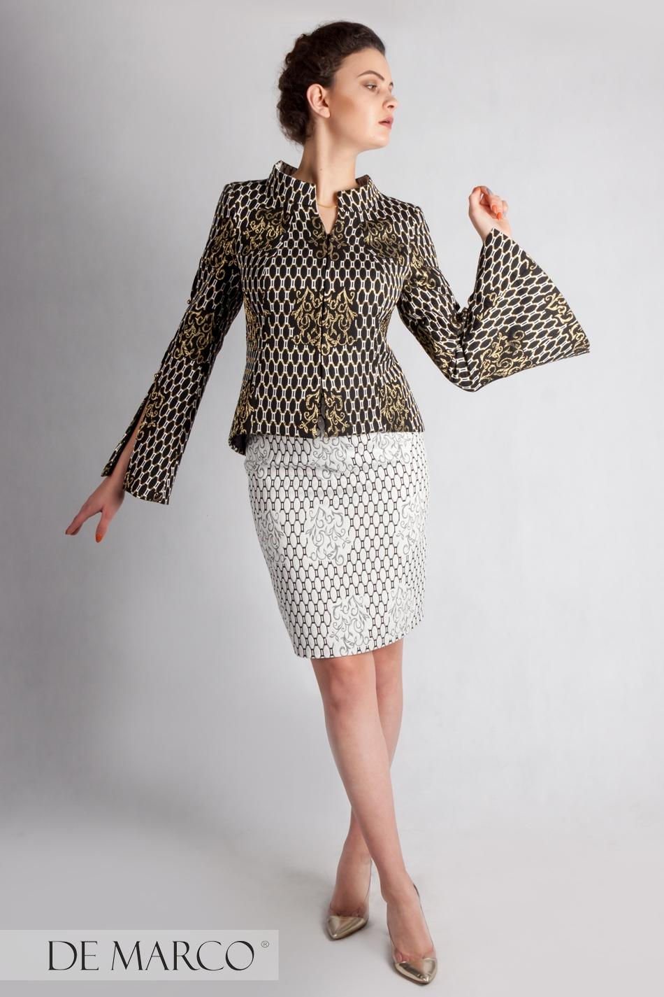 e83c127410 Najpiękniejszy kostium dla dyrektorki Gizela-Estera. Garsonka szyta na  miarę u projektantki Agaty Dudy ...