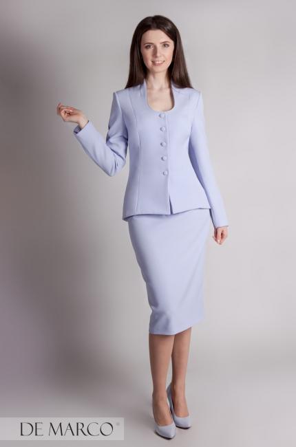 ce66ea1dd8 Jasnoniebieski biznesowy kostium Bellona