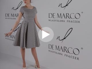 Rozkloszowana sukienka na wesele dla mamy. Sukienki od projektantki mody Władysławy Frączek.